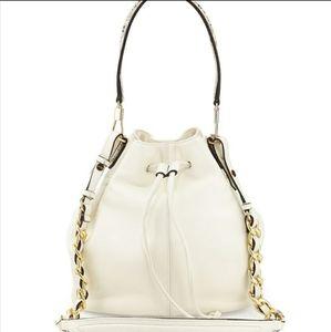 Elizabeth & James Cynnie Cream Python Bucket Bag
